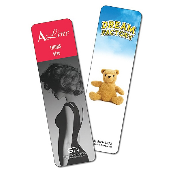 Plastic Bookmark - 2 X 7 Extra-thick Laminated - 24 Pt Photo