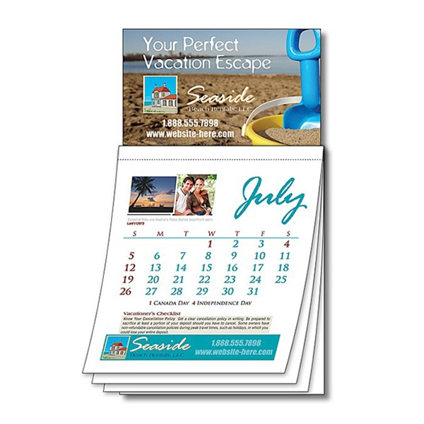 Magna-cal (tm) - Business Card Magnet Calendar - Custom 3.5 X 6.25. Design Your Own Unique Calendar! Photo