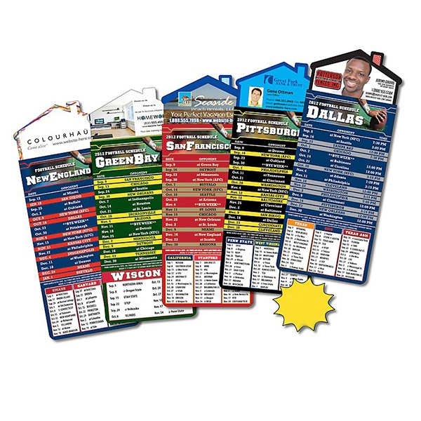 "Magna-card (tm) - Magnet - House Shape - Football Schedules (3.5"" X 9"") Photo"