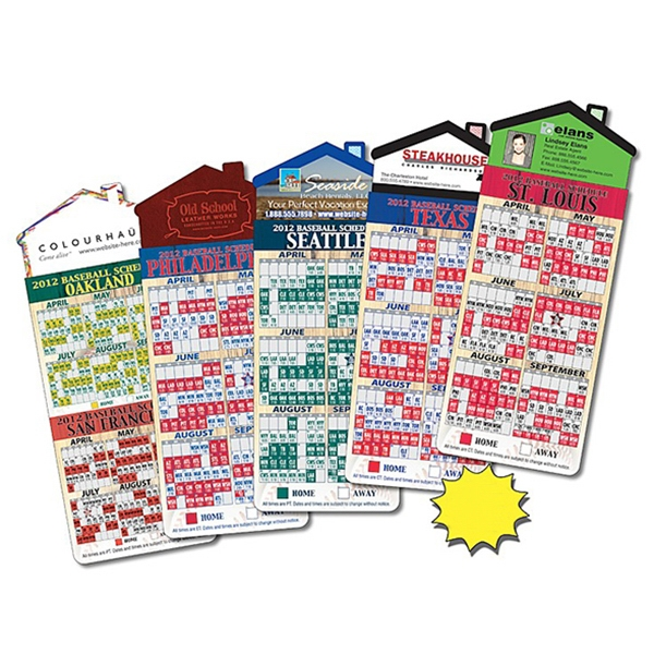 "Magna-card (tm) - Magnet - House Shape - Baseball Schedules (3.5"" X 9""). Available To Ship In March Photo"
