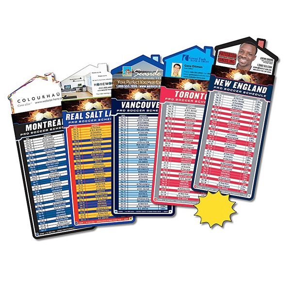 "Magna-card (tm) - Magnet - House Shape - Soccer Schedules (3.5"" X 9""). Available To Ship In February Photo"