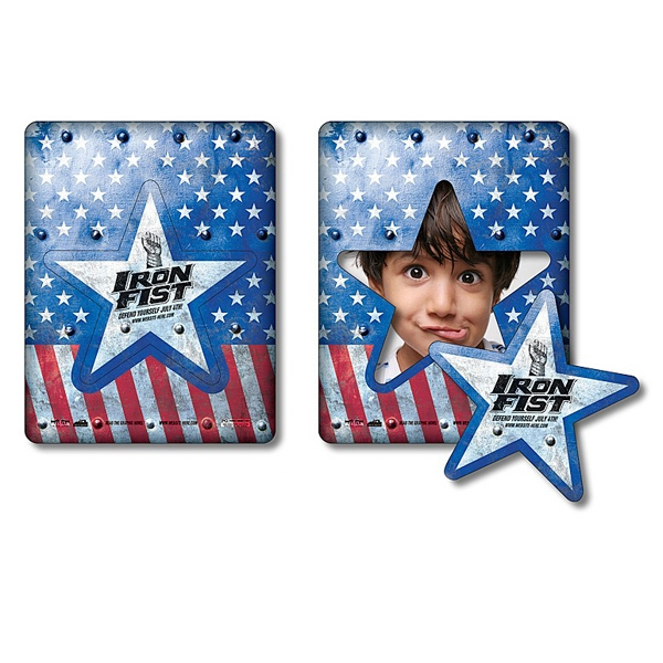 "Magnet - Picture Frame Star Punch 3.5"" X 4.5"" - 20 Mil Photo"