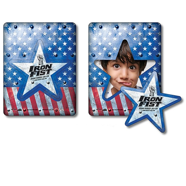 "Tuffmag (tm) - Magnet - Picture Frame Star Punch 3.5"" X 4.5"" - Outdoor Safe Photo"