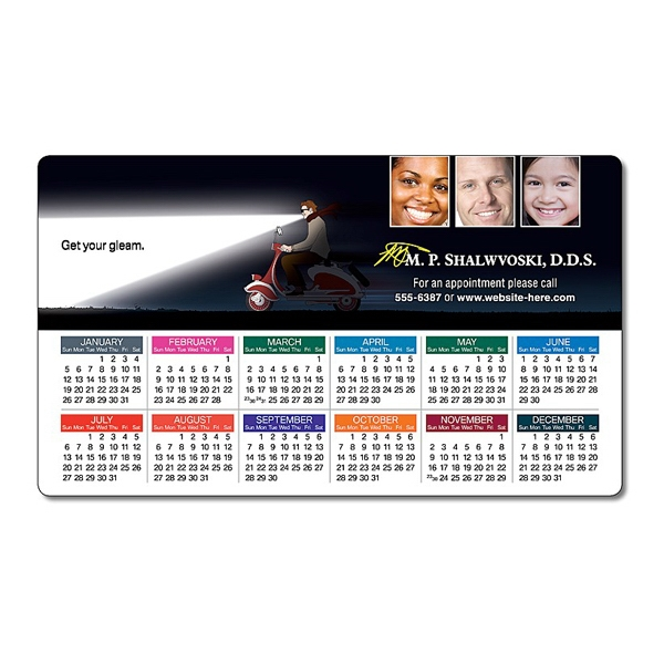 "Health Calendar Magnet - 3.5"" X 6"" Rectangle With Round Corners - 25 Mil Photo"
