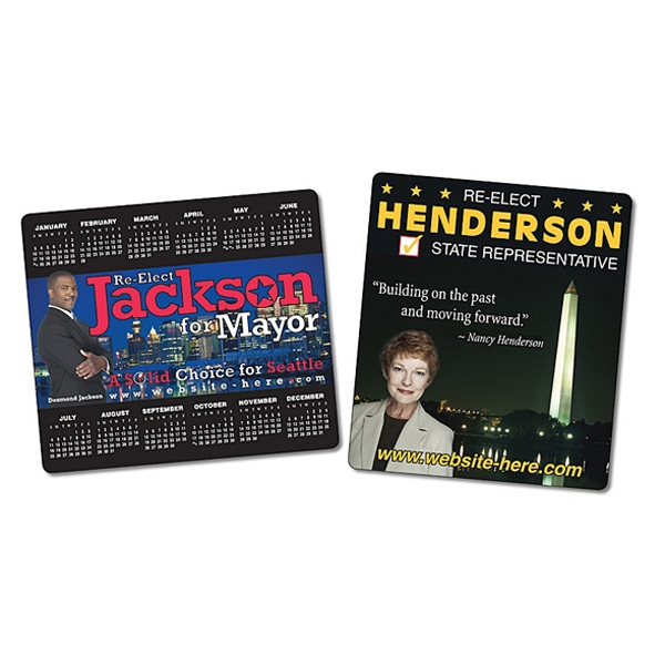 "Political Calendar Magnet - 3.5"" X 4"" Rectangle With Round Corners - 25 Mil Photo"