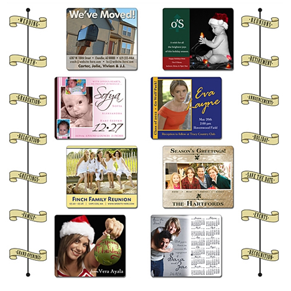 "Announcement Calendar Magnet - 3.5"" X 4"" Rectangle With Round Corners - 25 Mil Photo"