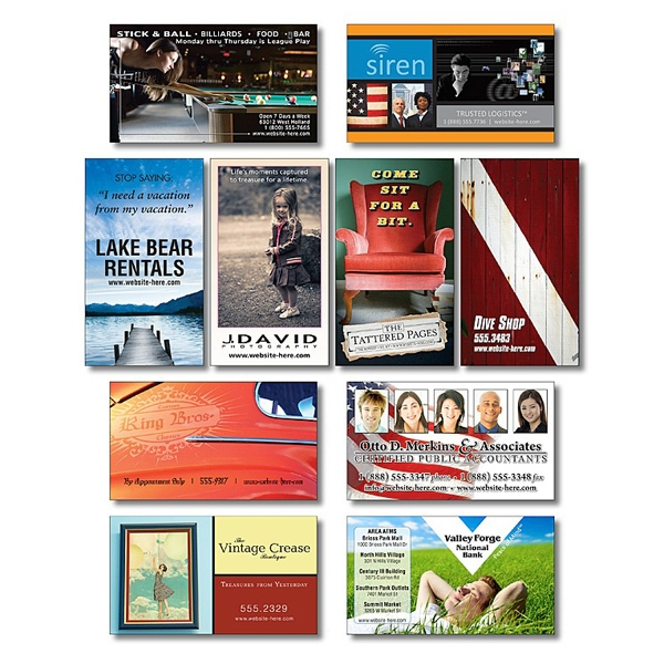 "Business Card Magnet - 3.5"" X 2"" Rectangle With Square Corners - 20 Mil Photo"