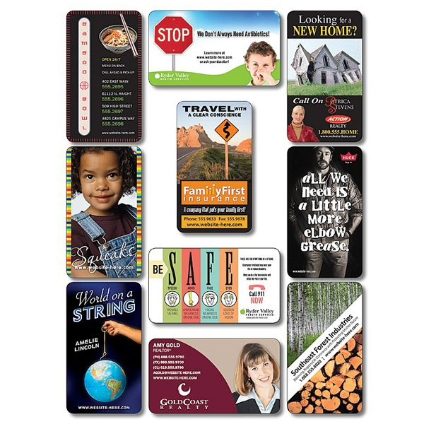 "Tuffmag (tm) - Business Card Magnet - 3.5"" X 2"" Rectangle With Round Corners - Outdoor Safe Photo"