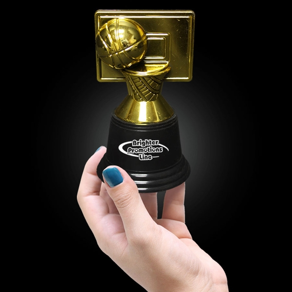 "4 3/4"" Plastic Basketball Trophy Photo"