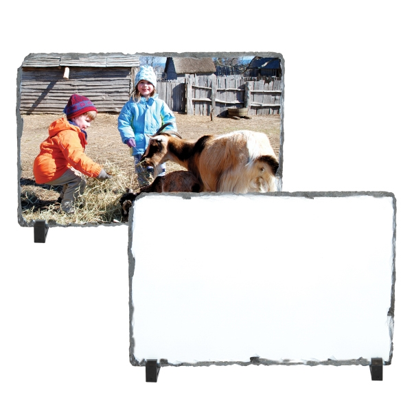 "Large Rectangle Sublimation Photo Slate, 7.2"" X 11.7"" Photo"