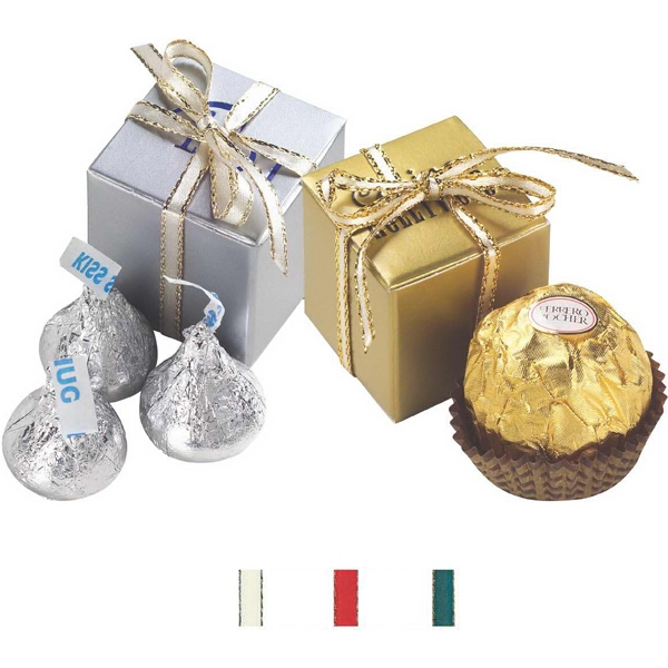 "Ferrero Rocher (r) - Chocolate Candy In A Chocolate Gift Box. Item Size: 1.9375"" X 1.9375"" Photo"