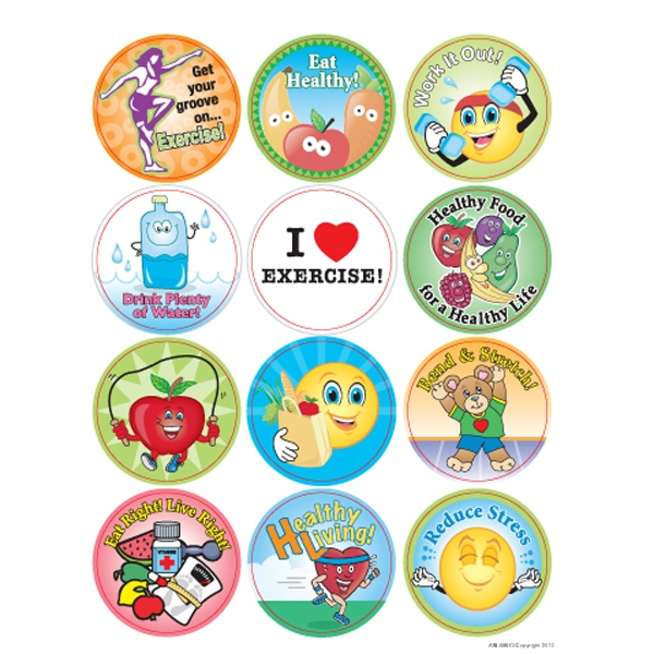 Eat Healthy! Live Healthy! - Removable Sticker Fun Photo