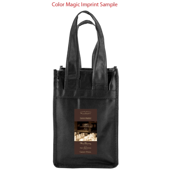 Enviro Sacks (tm) - Recyclable, Polypropylene Black Wine Tote, Holds 2 Bottles Photo