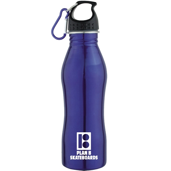 20 Oz 18/8 Stainless Steel Water Bottle With Screw On Cap Photo