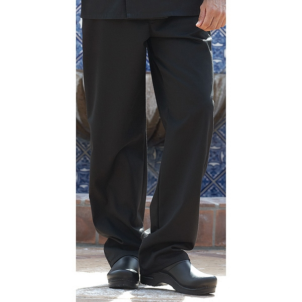 Executive Chef Pants- Black- Brass Zipper