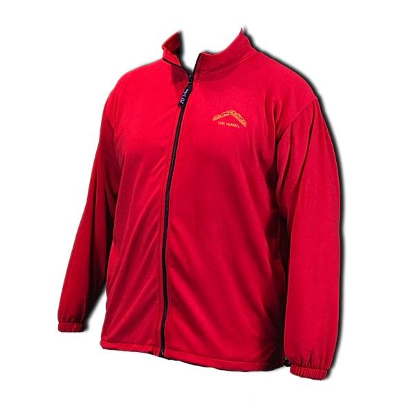 Unisex full zip polar fleece jacket