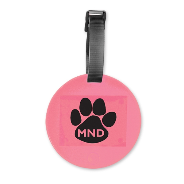 Pink - Round Luggage Tag. Closeout Prices. While Supplies Last Photo