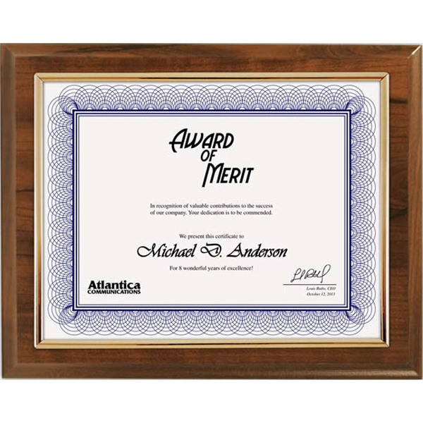Budget Beater - Cherry Certificate Plaque With Gold Frame Photo