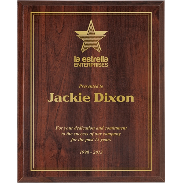 Valuworx - Cherry Finish High Gloss Plaque Photo