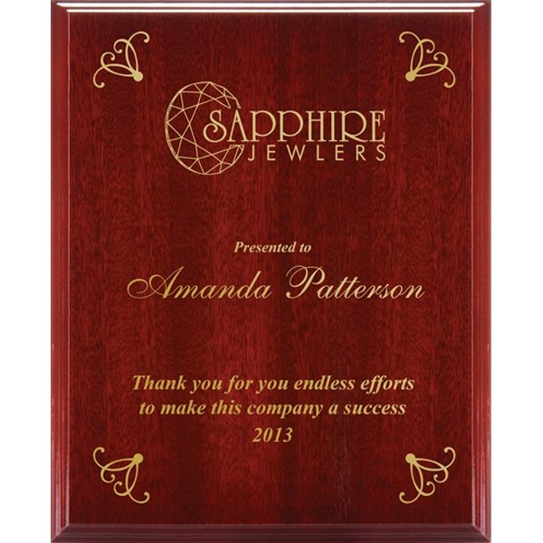 Valuworx - Mahogany Finish High Gloss Plaque Photo