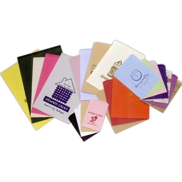 "Colors Paper Merchandise Bag With Ink Printing. 8 1/2"" X 11"" Photo"