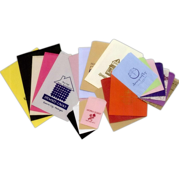 "Colors Paper Merchandise Bag With Ink Printing. 12"" X 15"" Photo"