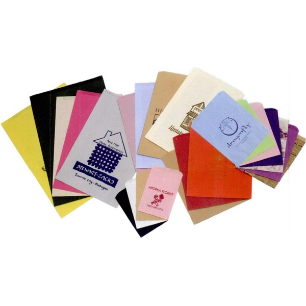 "Colors Paper Merchandise Bag With Hot Foil Stamp. 12"" X 2 3/4"" X 18"" Photo"