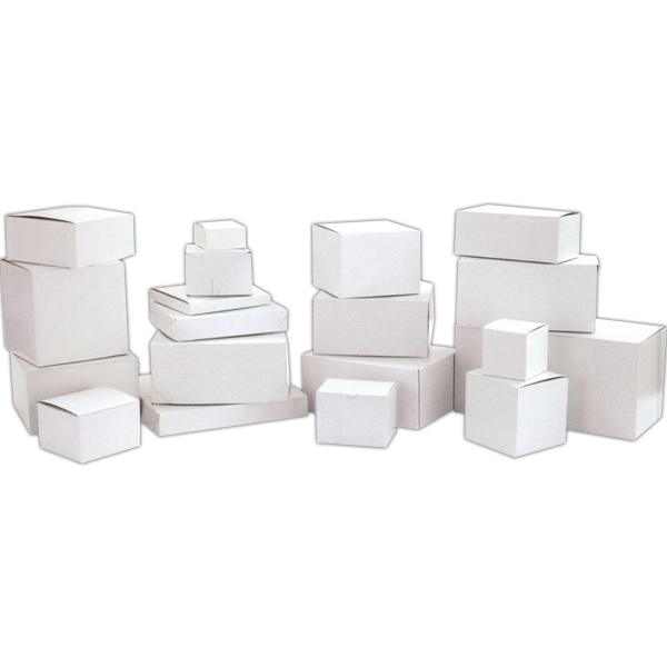 "4"" X 4"" X 4"" - White Gloss Stock 1 Piece Quick Lock Giftware Boxes Photo"