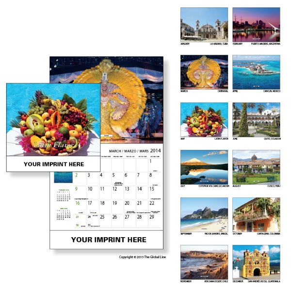 Econoline - Wall Calendar With Latin America Photos Photo