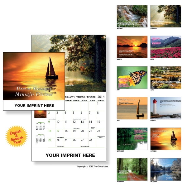 Econoline - Wall Calendar With Divine Passages From The Bible Photo