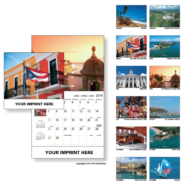 Econoline - Wall Calendar With Scenery And Places In The Caribbean Photo