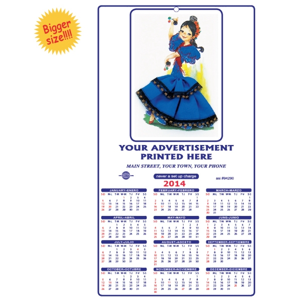 Fiesta Line - Wall Calendar With Three Dimensional Effect Photo