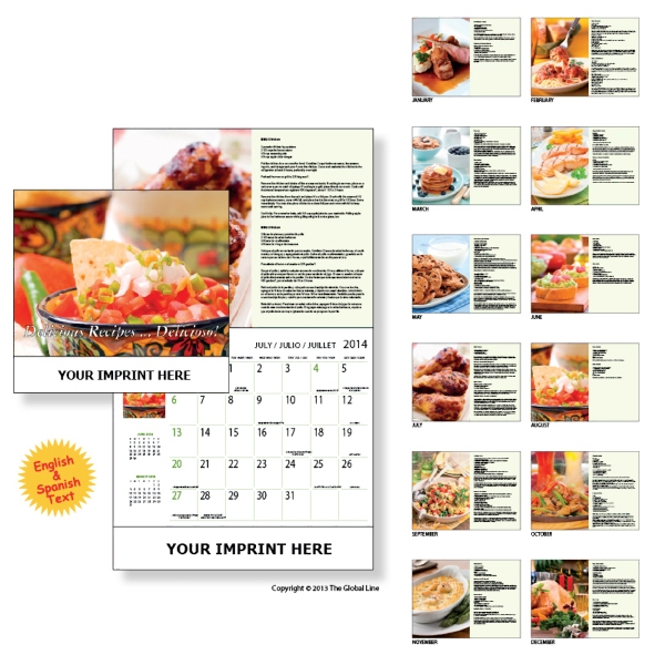 Econoline - Wall Calendar With Recipes In English And Spanish Photo