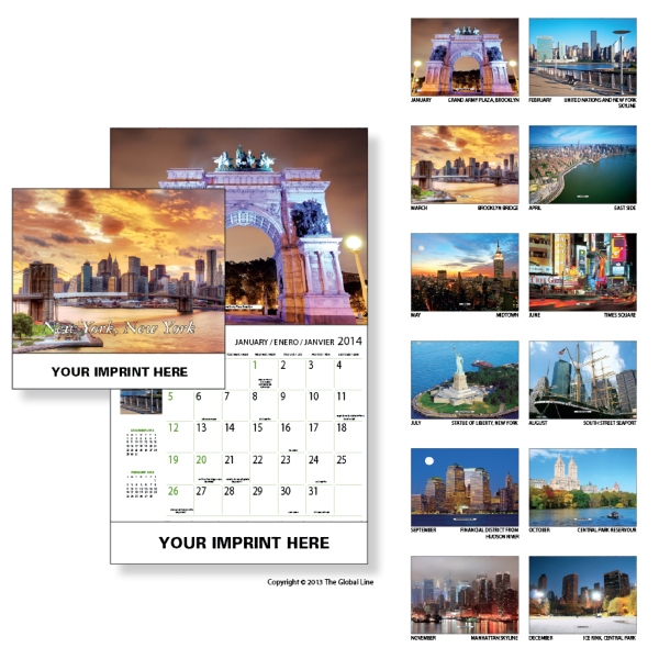 Econoline - Wall Calendar With Scenes Of New York Photo