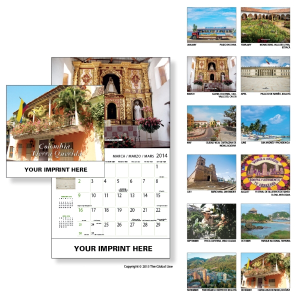 Econoline - Wall Calendar With Scenes Of Colombia Photo