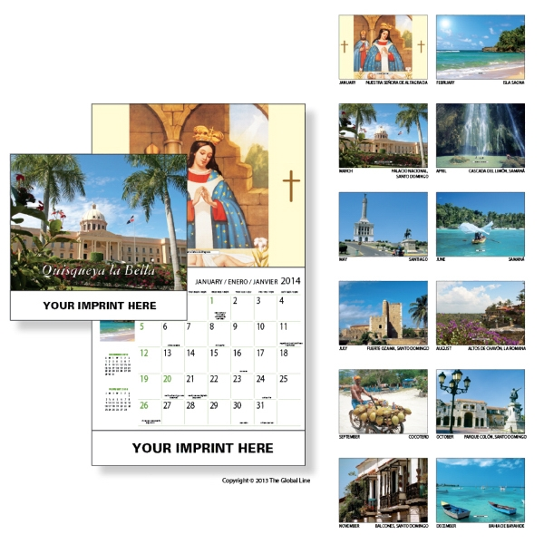 Econoline - Wall Calendar With Scenes Of Dominican Republic Photo
