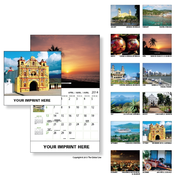 Econoline - Wall Calendar With Scenes From Central America Photo
