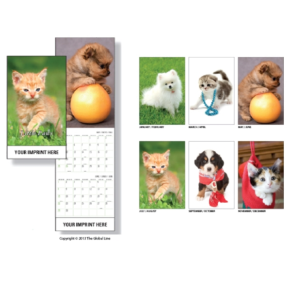 Super-econo - Wall Calendar With Kittens And Puppies Photo
