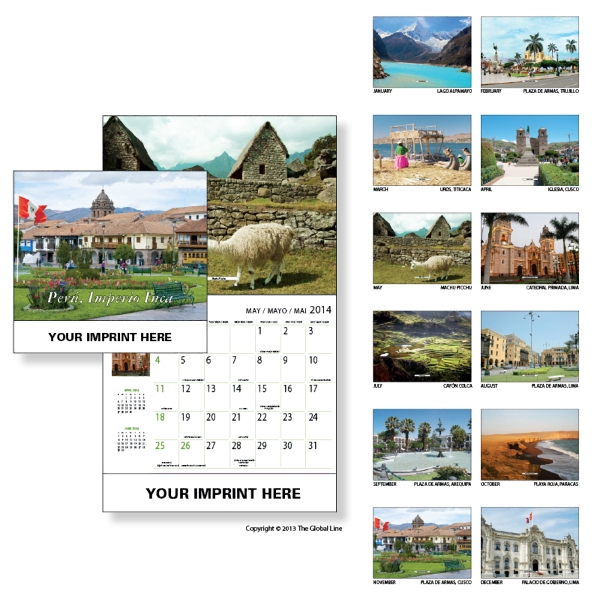 Econoline - Wall Calendar With Scenes Of Peru Photo