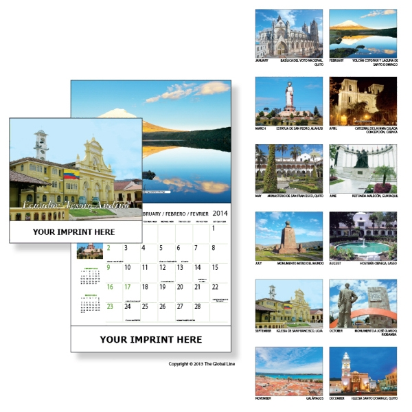 Econoline - Wall Calendar With Scenes Of Ecuador Photo
