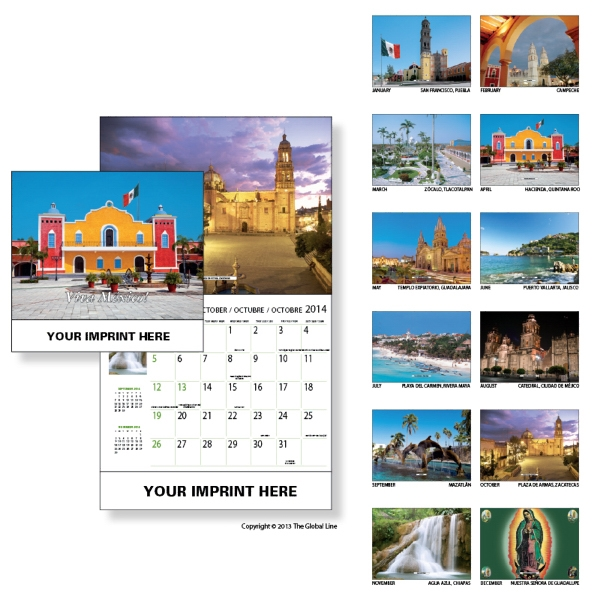 Econoline - Wall Calendar With Scenes Of Mexico Photo