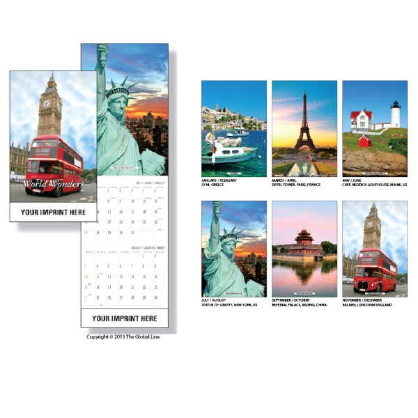 Super-econo - Wall Calendar With World Scenes Photo