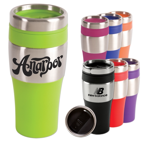 Silver Streak - Tumbler With Pvc Grip, 16 Oz Photo