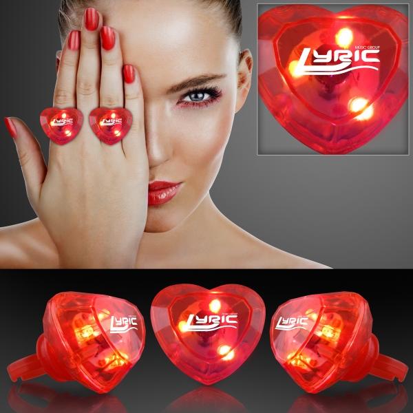 Light-up huge gem ring