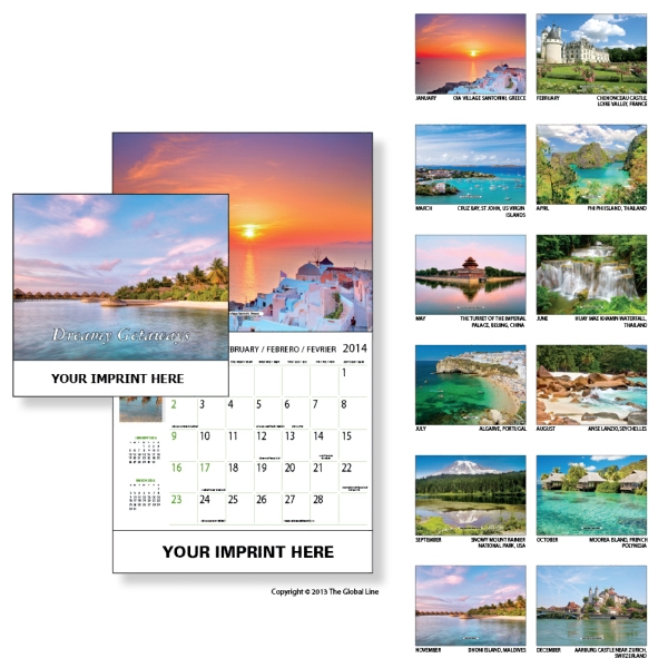 Econoline - Wall Calendar With Exotic Islands Scenes Photo