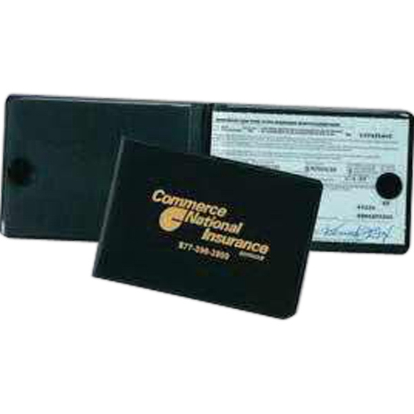 deluxe stiff cover fold over insurance card holder - Insurance Card Holder