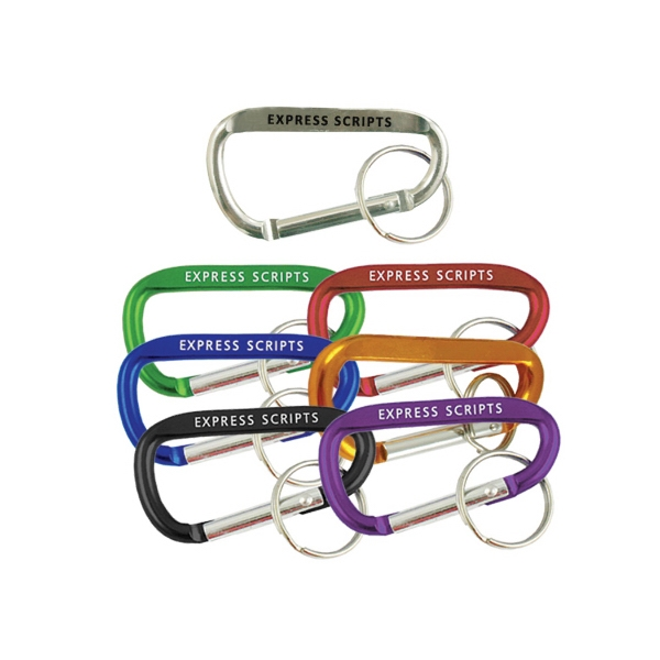 "3 1/8"" Carabiner with key ring"