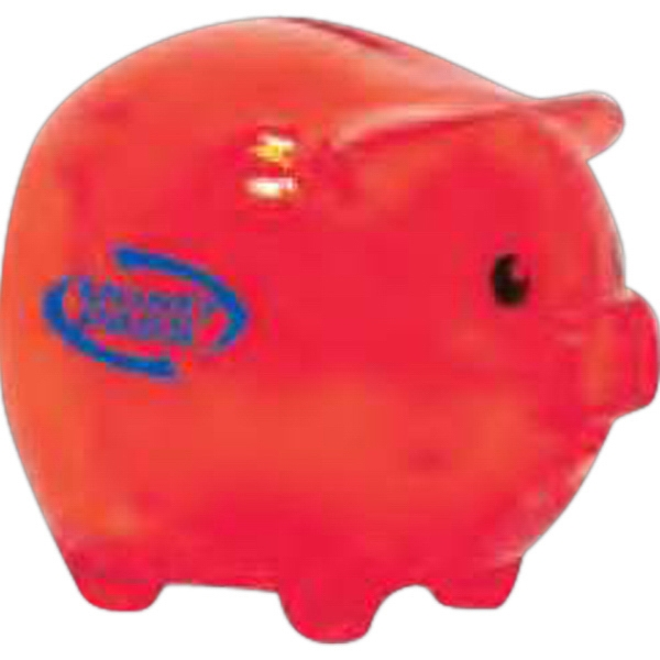 "Smash It - Translucent Red - Piggy Bank, 3"" Photo"