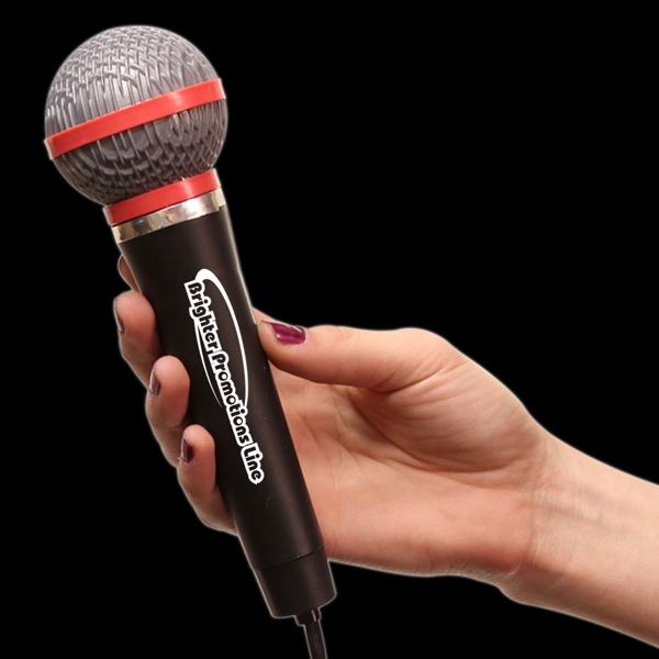 "10"" Plastic Toy Microphone Photo"