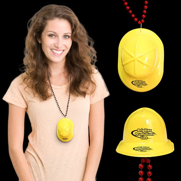 Mini Yellow Construction Hat With J-hook Medallions Photo